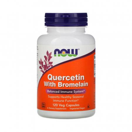 Quercetin with Bromelain (Antioxidant), Now Foods, 120 capsule0