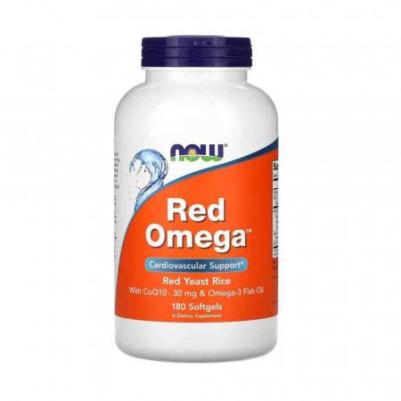 Red Omega (Red Yeast Rice), Drojdie rosie de orez, Now Foods0