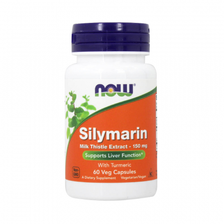 Silimarina, Milk Thistle Extract with Turmeric, 150 mg, Now Foods, 60 capsule0