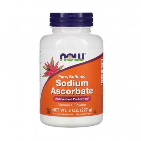 Vitamina C Tamponata Pulbere (Sodium Ascorbate Powder Buffered), Now Foods, 227g0