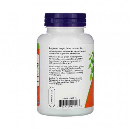 Spirulina Certificata Organic, Now Foods1