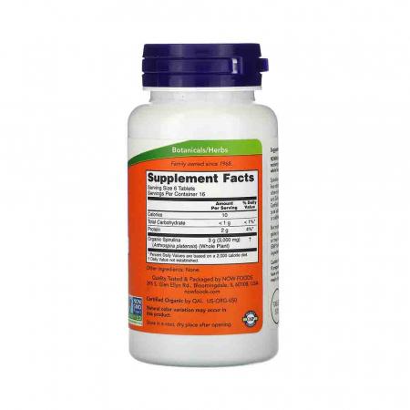Spirulina Certificata Organic, 500 mg, Now Foods, 100 tablete2