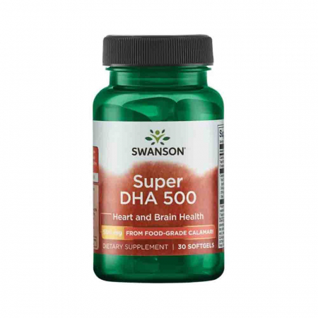 Super DHA 500 from Food-Grade Calamari, Swanson, 30 softgels0