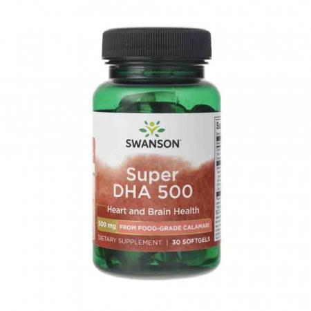 Super DHA 500 from Food-Grade Calamari, Swanson, 30 softgels2