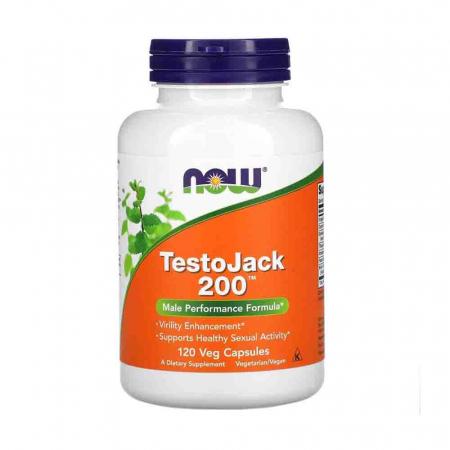 TestoJack 200, Stimulent Hormonal, Now Foods0