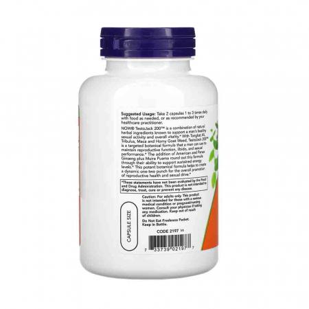 TestoJack 200, Stimulent Hormonal, Now Foods2
