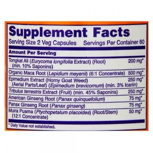 TestoJack 200, Stimulent Hormonal, Now Foods3