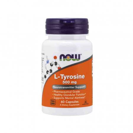 L-Tyrosine, Tirozina 500mg, Now Foods, 60 capsule0