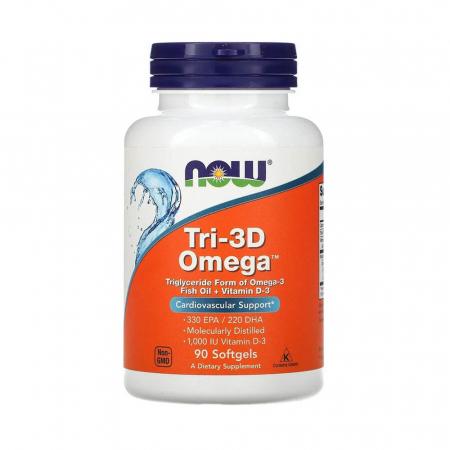 Tri-3D Omega (Trigliceride), Now Foods, 90 softgels0