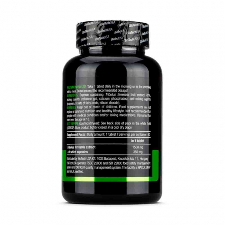 Tribulus Maximus, 1500 mg, BiotechUSA, 90 tablete1