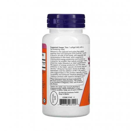 Ubiquinol (Active CoQ10), 100mg, Now Foods, 60 softgels1