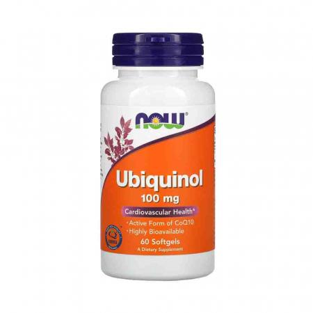 Ubiquinol (Active CoQ10), 100mg, Now Foods, 60 softgels0