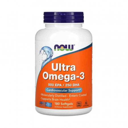 Ultra Omega-3, 500mg EPA / 250mg DHA, Now Foods0