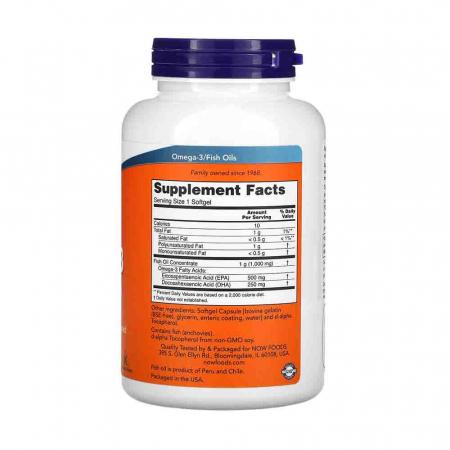 Ultra Omega-3, 500mg EPA / 250mg DHA, Now Foods2