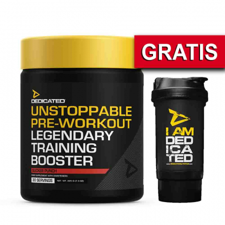 Unstoppable Pre-Workout, Dedicated, 225g + Shaker0