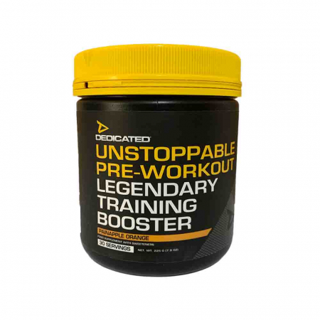 Unstoppable Pre-Workout, Dedicated, 225g + Shaker1
