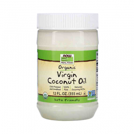 Virgin Coconut Cooking Oil Organic, 100% Pure, Now Foods, 355ml0