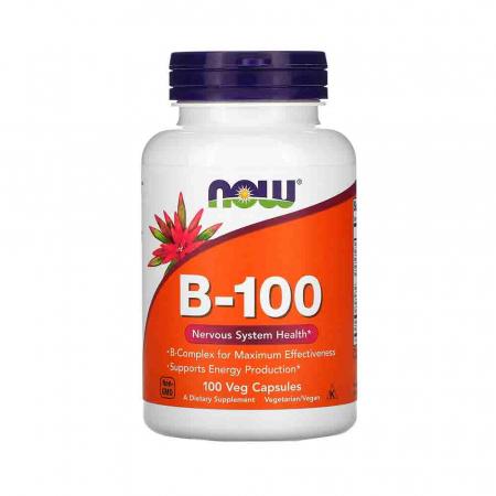 Vitamin B-100 (Complex Vitamina B) 100 mg, Now Foods0