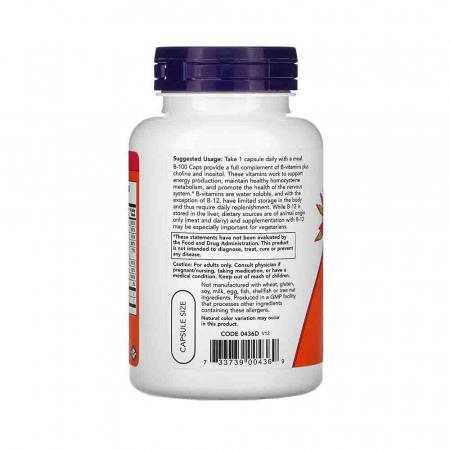 Vitamin B-100 (Complex Vitamina B) 100 mg, Now Foods1
