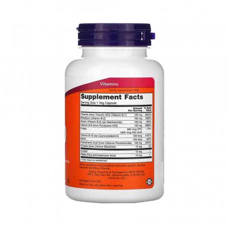 Vitamin B-100 (Complex Vitamina B) 100 mg, Now Foods2