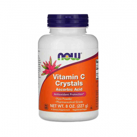 Vitamin C Crystals Powder, Ascorbic Acid, Now Foods0