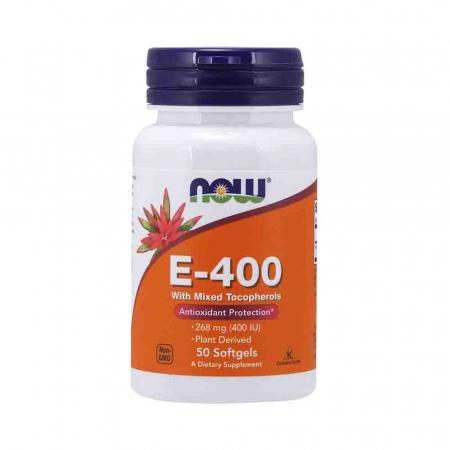 Vitamin E-400 (Mixed Tocopherols) 268 mg, Now Foods, 50 softgels0