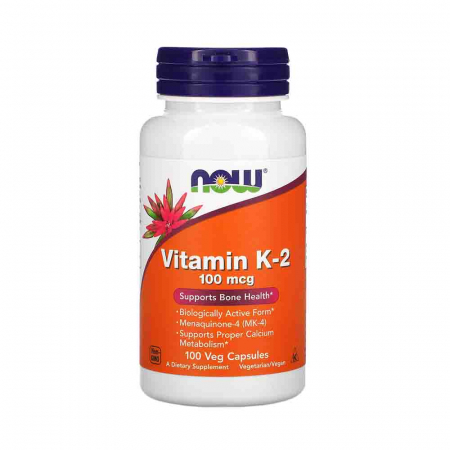 Vitamin K-2, MK-4, 100 mcg, Now Foods, 100 capsule0