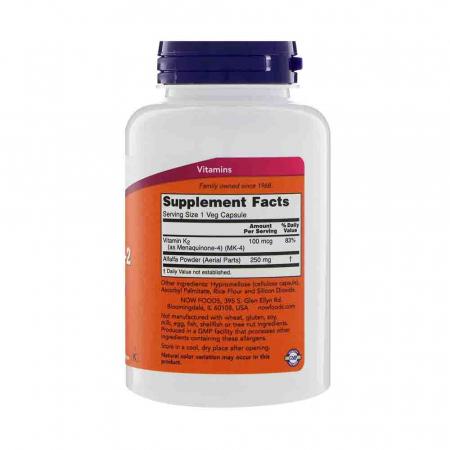 Vitamin K-2, MK-4, 100 mcg, Now Foods2