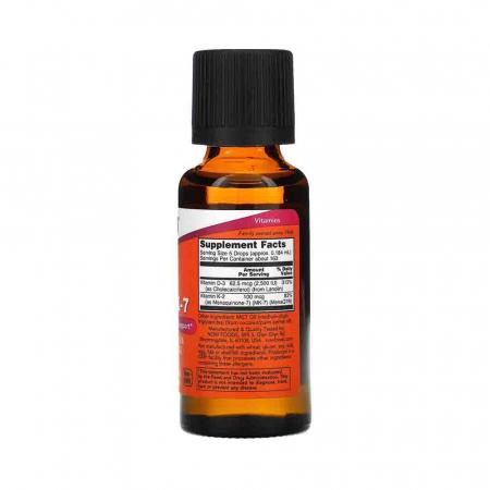Vitamine Lichide D-3 & MK-7, Now Foods, 30ml2