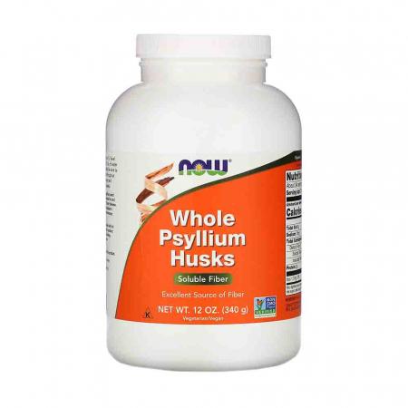 Whole Psyllium Husks (Tărâțele de Psyllium), Now Foods, 340g0