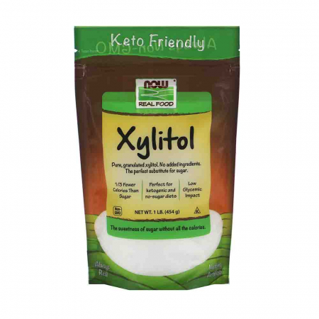 Xylitol (indulcitor natural) 100% Pure, Now Foods, 454g0