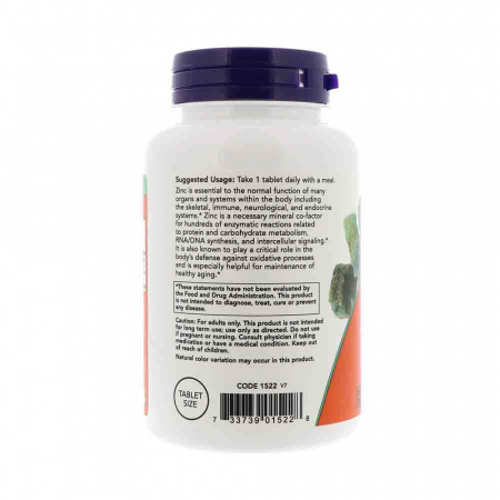 Zinc (Mineral), 50mg, Now Foods2