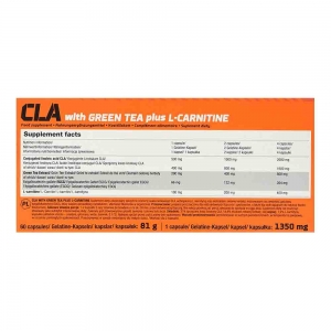 CLA with Green Tea plus L-Carnitine Sport Edition, Olimp, 60 caps
