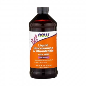 Glucosamine & Chondroitin with MSM Liquid, Now Foods, 473ml.