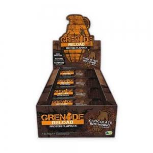 Grenade Reload Flapjacks, batoane proteice, 12x70g + Bidon 2.2L