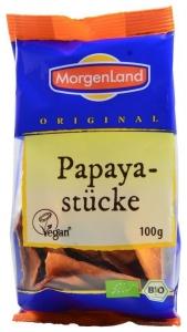 papaya bucati uscate, ecologice, 100g