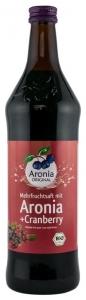 Aronia Original–Suc BIO de aronia cu suc de merișoare, 0,7l