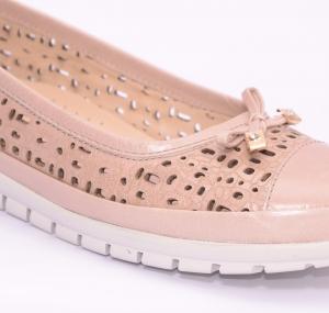 Balerini de piele Relax Nevalis roz4
