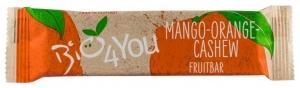 Baton BIO de fructe cu mango, portocale si caju, 30g
