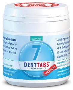 Tablete pentru curatarea dintilor cu menta si stevie, cu fluor–125 tablete