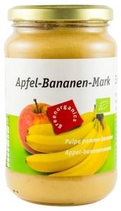 Green Organics - Piure BIO din pulpa de mere si banane–360g