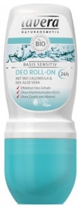 Deodorant roll-on cu galbenele si Aloe Vera, Basis Sensitive 24h 50 ml