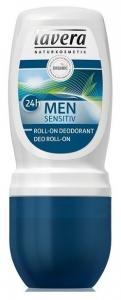MEN Sensitive 24h - Deodorant roll-on cu lemongrass si bambus, 50 ml