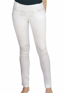Pantaloni medicali Slimfit alb
