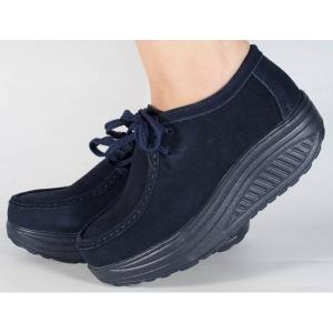 Pantofi bleumarin cu talpa convexa