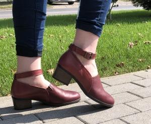 Pantofi confortabili dama 557 Bordo0