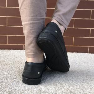 Pantofi din piele dama Medline 274/1 Negru1