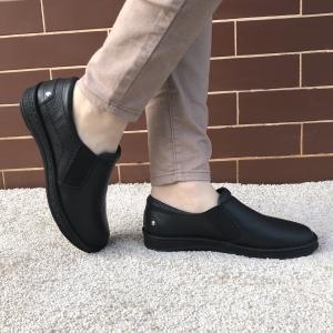 Pantofi din piele dama Medline 274/1 Negru0