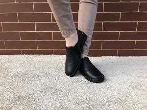 Pantofi din piele dama Medline 274/1 Negru2