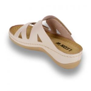 Papuci confortabili dama Leon 906 Perla2